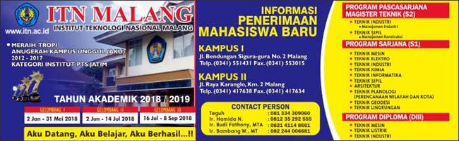 Penerimaan siswa baru ITN Malang